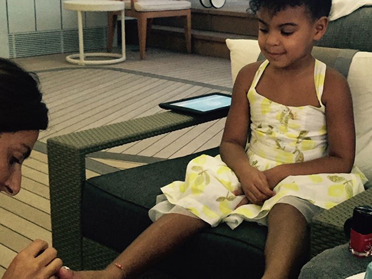 Beyoncé And Jay Z's Adorable Family Album - Blue Ivy Gets A Pedicure from InStyle.com