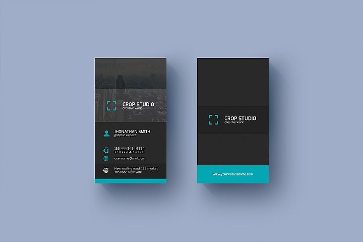 Corporate Business Card With Images Corporate Business Card