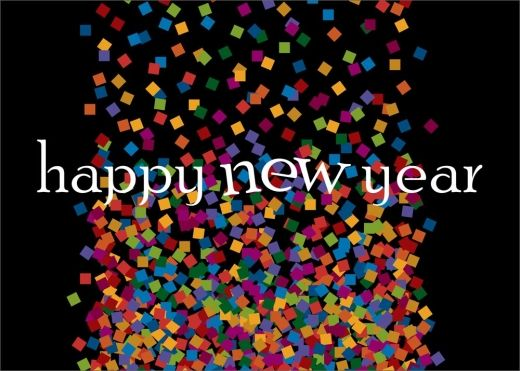 Confetti Happy New Year Card - New Years from Brookhollow