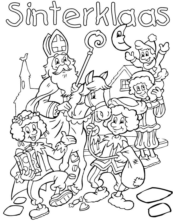 Sinterklaas Kleurplaat Inkleuren Op De Computer En Uitprinten 125 Best Sinterklaas Kleurplaten Images On Pinterest