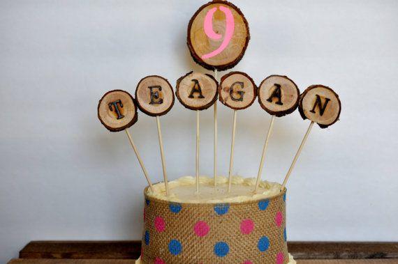 woodland cake topper custom woodland party cake by ReclaimedOregon