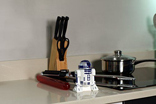 Star Wars Kitchen Timer - R2D2 Countdown Timer with Rotating HeadThis R2D2 countdown timer is a feisty little one. Simply rotate the dome to the required time to start the countdown; the alarm will ring when the timer reaches zero. He's the perfect little assistant for any chef!. Officially licensed Star Wars countdown kitchen timer