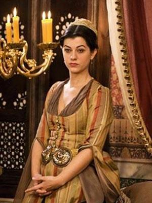 "Actress Filiz Ahmet as ""Nigar Kalfa"" in Suleiman; El Gran Sultan (MundoFox).  (Original Novela filmed in Turkey, now w/ Spanish overdubs)"