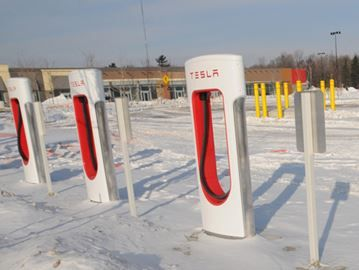 Electric car charging station opens Friday at Park Place in Barrie - Park Place will offer the first electric vehicle supercharging station north of Toronto near Hwy. 400.