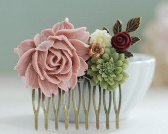 sage green and dusty rose colour theme