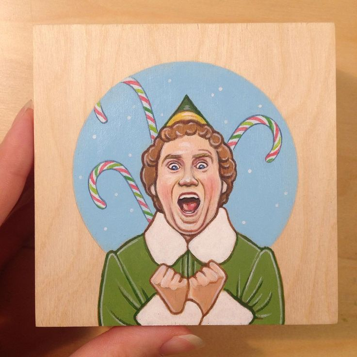 Now that the presents have been handed out I can finally share this mini painting I made for a gift. Acrylic paint on wood. 4x4 inches.