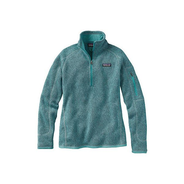 Women's Patagonia Better Sweater 1/4 Zip - Mogul Blue Sweater Vests ($99) ❤ liked on Polyvore featuring tops, sweaters, blue jersey and patagonia