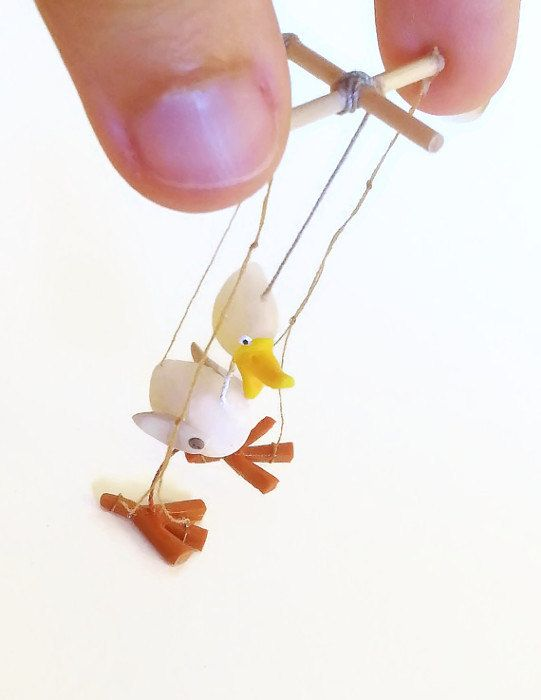 Miniature dollhouse toy puppet 1:12 scale / Miniature toy store / Roombox decoration miniature / scale one inch miniature / mini marionette