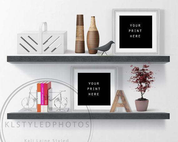 Square Frame Styled Stock Photo Two Grey Frames/ by KLStyledPhotos