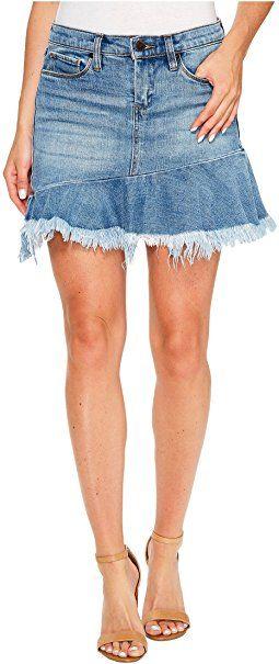 Blank NYC - Denim Ruffle Mini Skirt in Fancy That