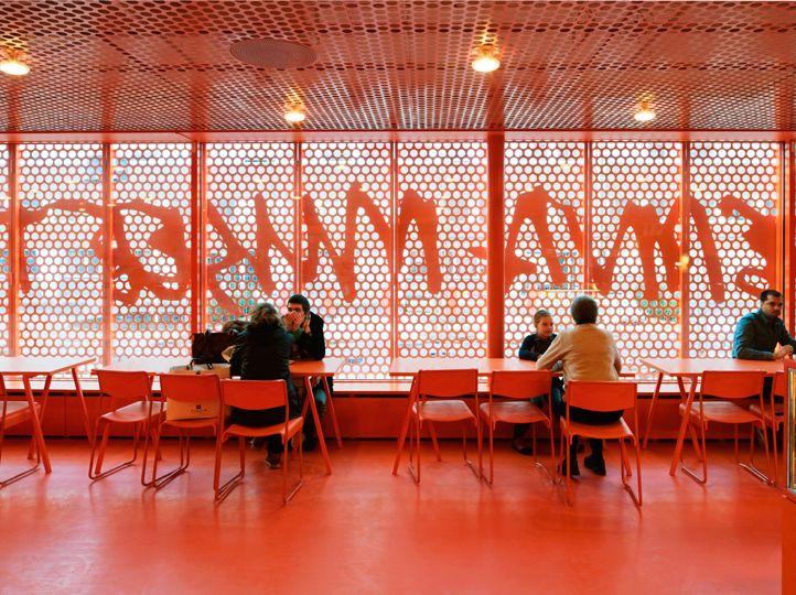 Mesh screens Moderna Museet Malmö | Stockholm Design Lab