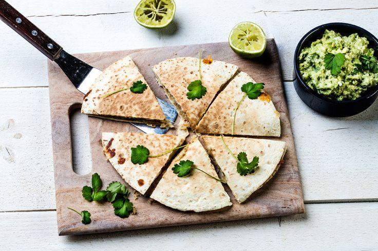 Vegetarian Quesadilla with Quinoa filling