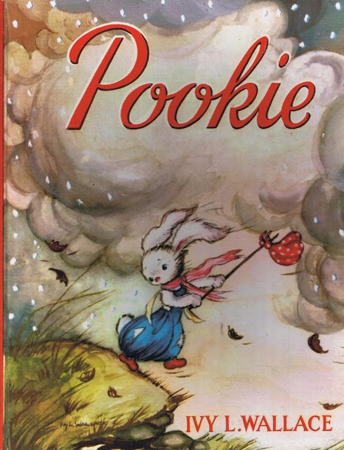 The first Pookie adventure of the flying rabbit, by Ivy L. Wallace. First published in 1946.