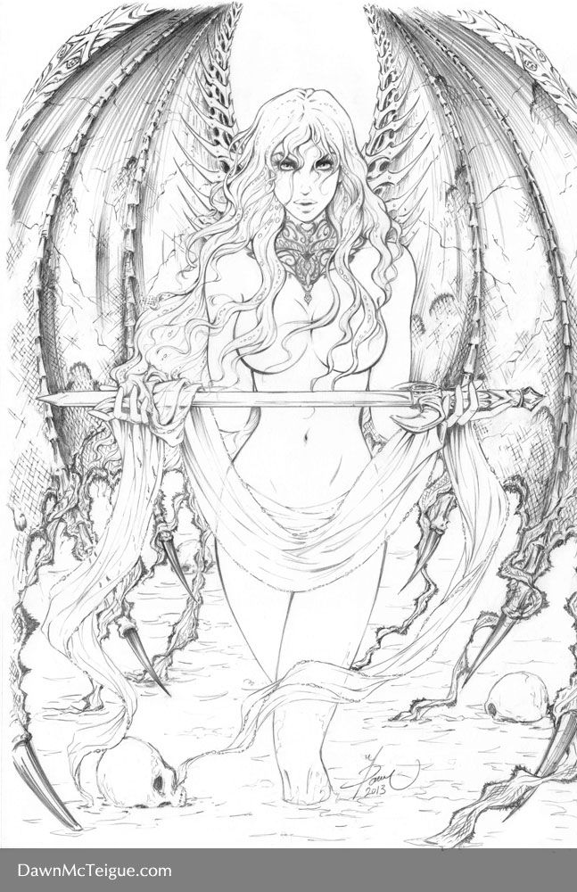 Cara Sword Pencils by Dawn-McTeigue on DeviantArt