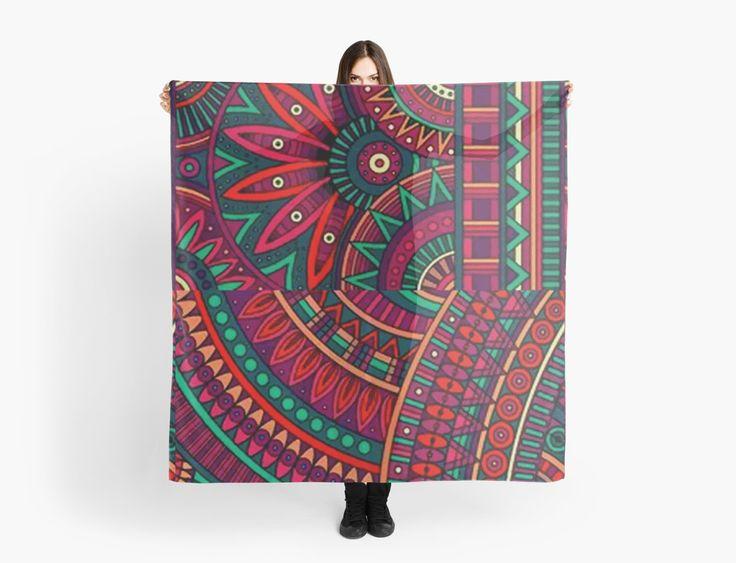 « Etnic patchwork pattern - motifs fleurs etniques » par LEAROCHE