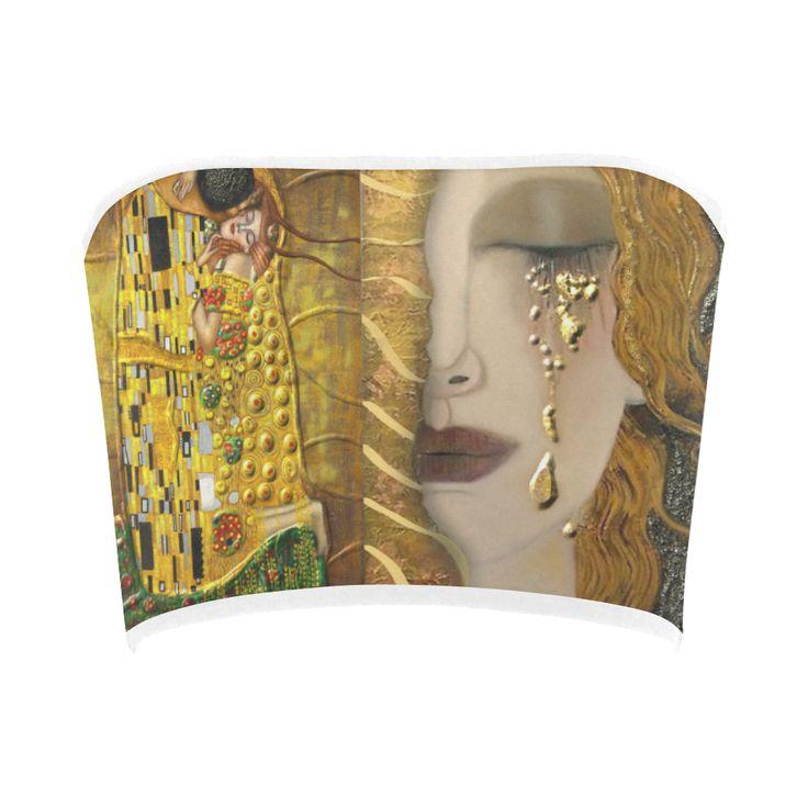 Gustav Klimt : Gold Bandeau Top