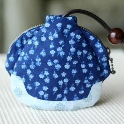 Super cute key cover / coin case combo in the chinese traditional styled jacket.