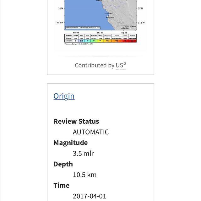 Sismo de 3.5 con epicentro en Tijuana #earthquake #Tijuana #sandiego #california #sismo #temblor #falla #sanandres #quemiedo #sandiego #sandiegoconnection #sdlocals #sandiegolocals - posted by Daniela Guichenne https://www.instagram.com/danielaguichenne. See more post on San Diego at http://sdconnection.com