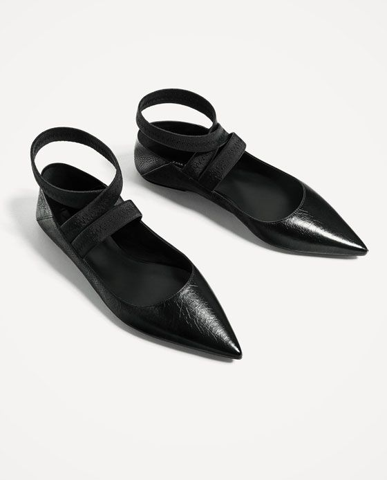 FLAT LACE - UP LEATHER SHOES-View all-SHOES-WOMAN | ZARA Slovenia
