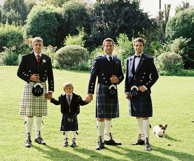 Kilts for the Groomsmen and Groom plus page boys at Slaters Formal Hire