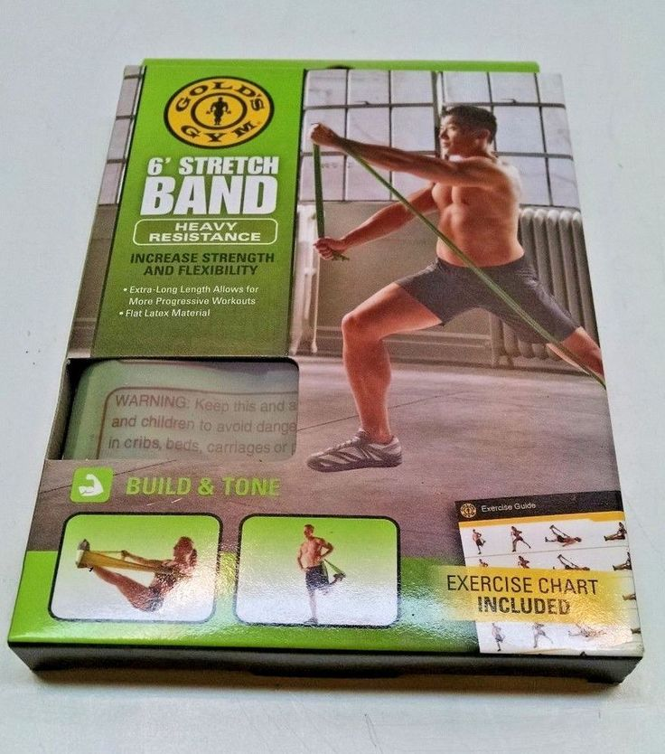 GOLD'S GYM 6' STRETCH BAND HEAVY RESISTANCE #GoldsGym