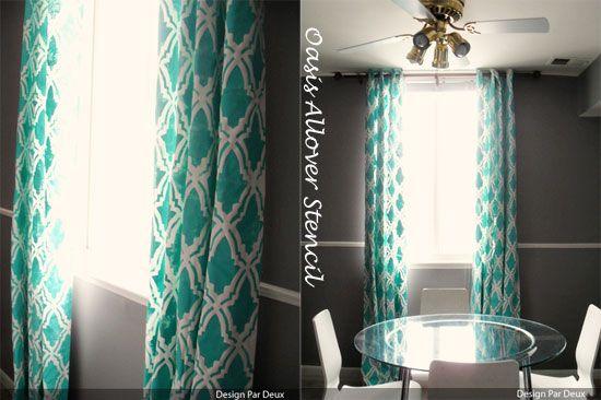 curtains cuttingedgestecils moroccan wall stencils decor