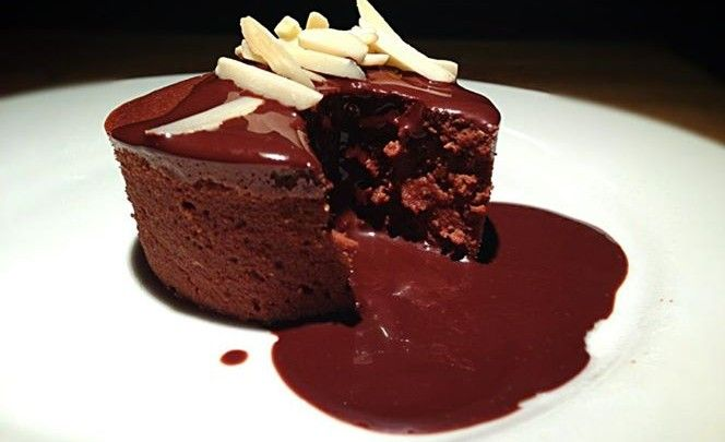 Chocolate and Pear Fondant Cakes