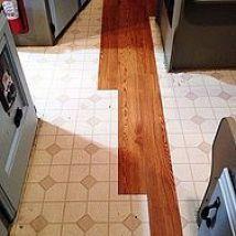 Installing stick tile flooring in the camper