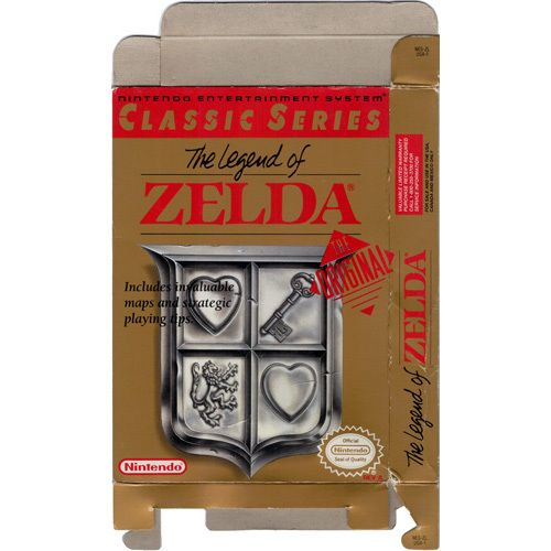 Legend of Zelda Classic, The - Empty NES Box