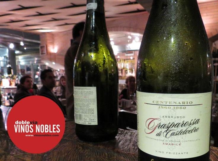 Cerrando una gran semana y nada mejor que celebrar con un delicioso Lambrusco... #vino #lambrusco