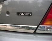 TARDIS Custom Car Emblem via Empira @ Etsy $12.00