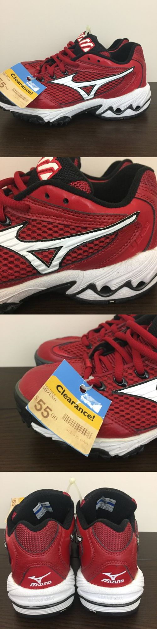 Womens 159060: New Mizuno Womens Speed Trainer Fastpitch Softball Shoes Red White Size 5 -> BUY IT NOW ONLY: $46.14 on eBay!