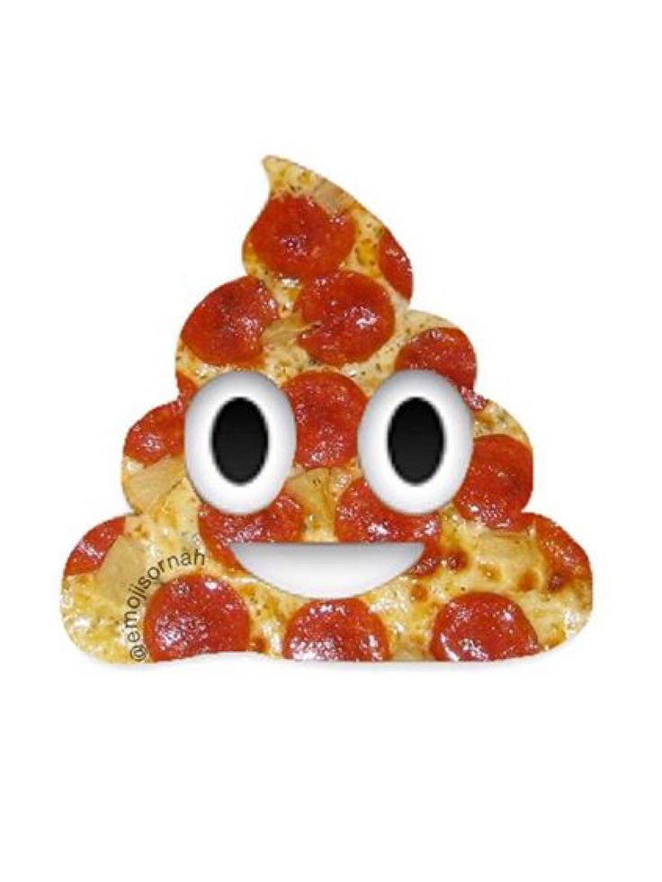 PIZZA POOP EMOJI