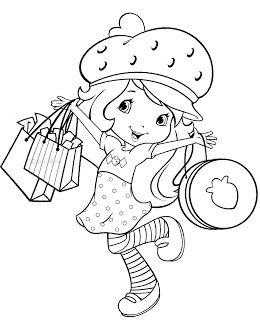 Moranguinho fazendo compras