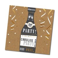 """Moderne Einladung """"Champagner"""" online bestellen"""