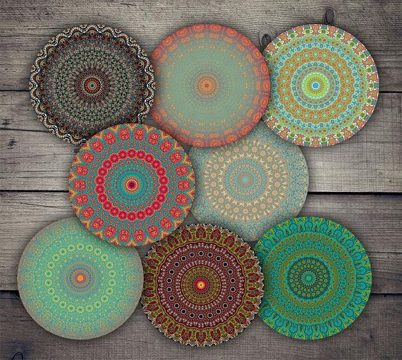 Mandala 2.5 Circles Digital Collage Sheet Printables