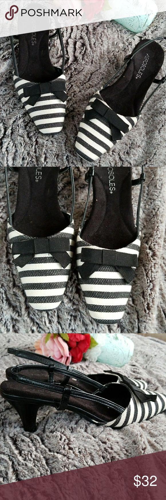 ⚠️Lowball Angebot OfferAerosoles Slingbacks Entzückende schwarz-weiße Aero …   – My Posh Picks