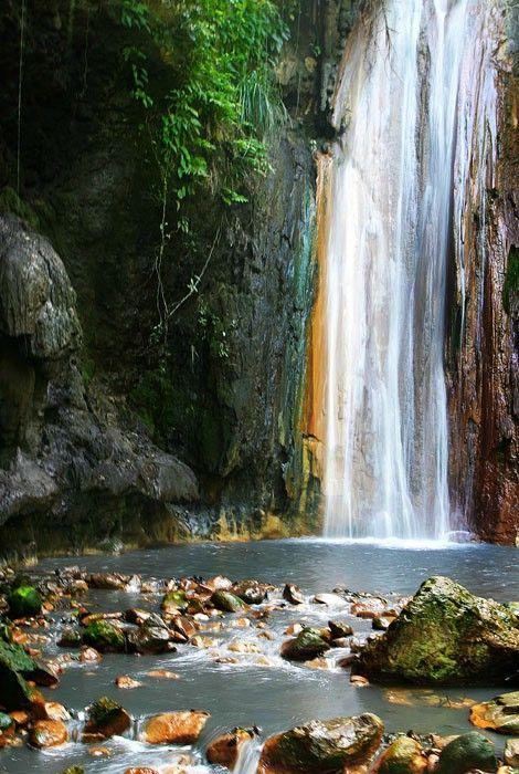 Beautiful Waterfall St Lucia,  #Caribbean