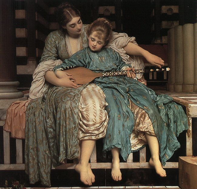 Music Lesson Lord Frederic Leighton