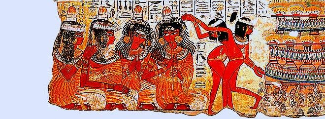 FRESCOS OF EGYPTIAN NEBAMON: Far away in time, where they still live the protagonists of an era never extinguished | Meeting Benches