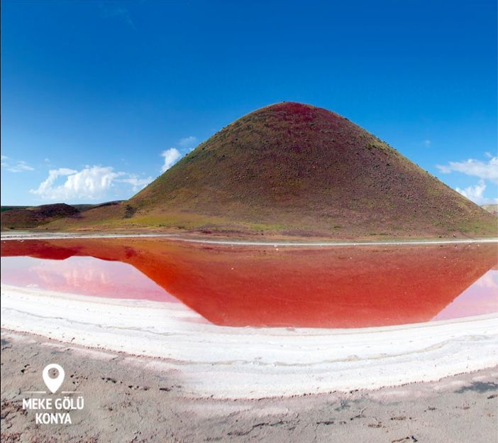 Lake Meke. Yes, it's red. Another fantastic gift from Mother Nature to Turkey. A great spot for photographers or outdoor lovers!