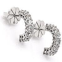 Primavera diamantøredobber | Klassisk! - Primavera Diamantørepynt 0,60ct tw/vs