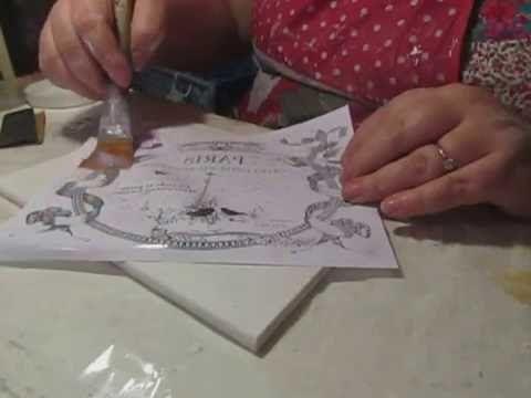 Декорируем чайную шкатулку «Монохромный Париж»: видео мастер-класс - Ярмарка Мастеров - ручная работа, handmade