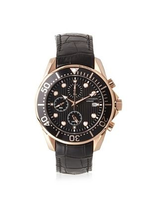 81% OFF Rudiger Men's R2001-09-007L Chemnitz Rose and Black Chronograph Watch