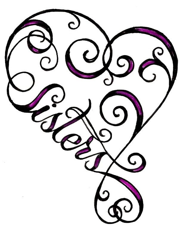 heart sister tattoo | Tattoo Ideas Central @S. Fernandez can we please get matching tattoos?