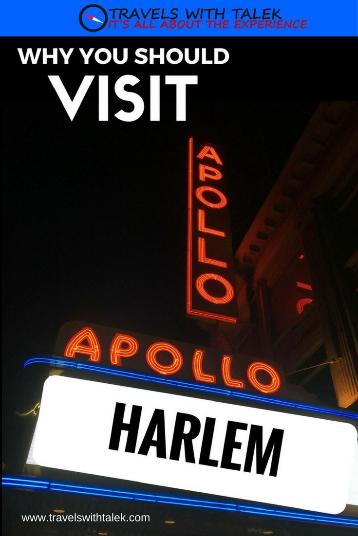 #3 See entertainment venues and restaurants in Harlem.  Read more at www.travelswithtalek.com