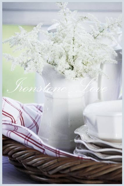 Ironstone love.  Stonegable's collection
