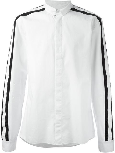 striped sleeve shirt