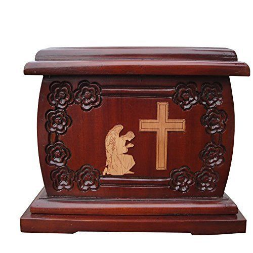 Urnporium Adult Mahogany Wooden Angel Praying Beside Cross Cherry Wood Onlay Funeral Cemetery Urn for Human Ashes Urnporium http://www.amazon.com/dp/B00YWA2570/ref=cm_sw_r_pi_dp_GMbhwb0EEC83D