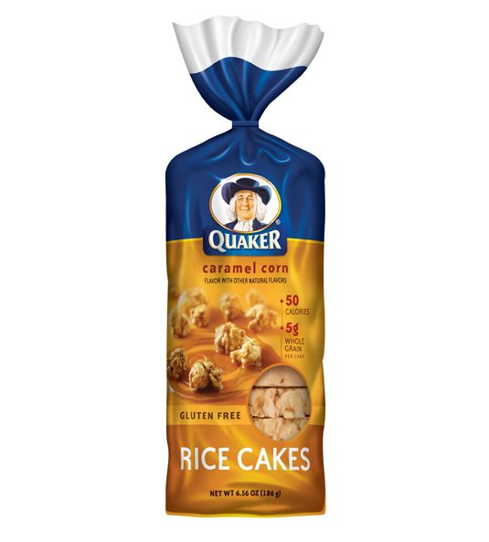 Caramel Corn Rice Cakes and lots of other yummy flavors.  * May contain trace of peanuts.